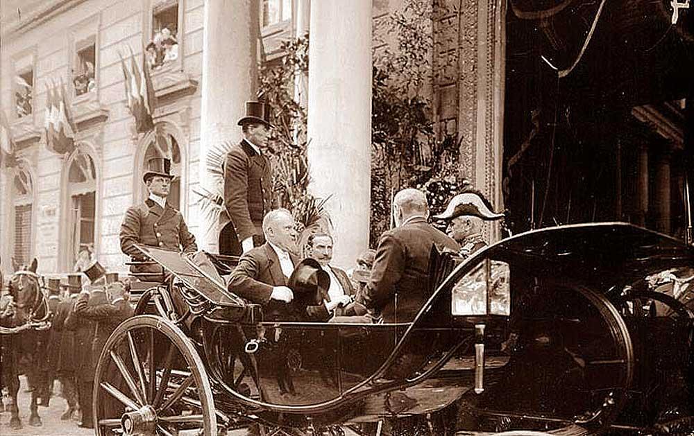 Arrivée à Avignon de Raymond Poincaré, président de la République, le 14 octobre 1913