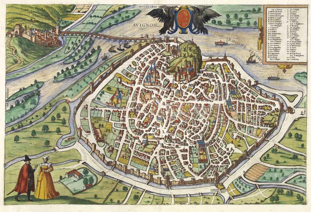AVIGNON Franz Hogenberg 1575