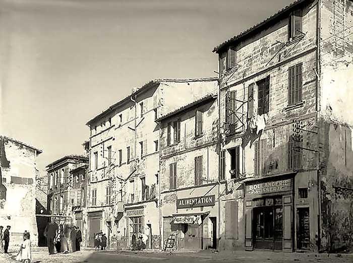 Rue de la Balance en 1940