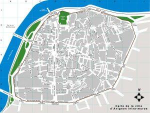 Plan d'Avignon intra-muros