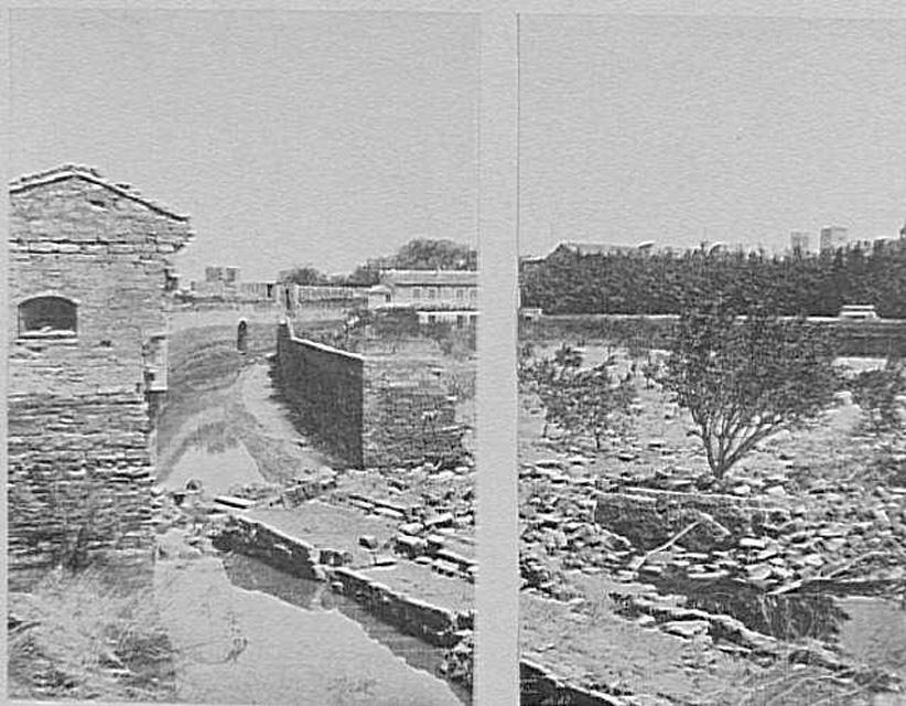 Effondrement des remparts de l'Oulle en 1856