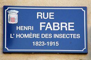Rue Jean-Henri Fabre (plaque)