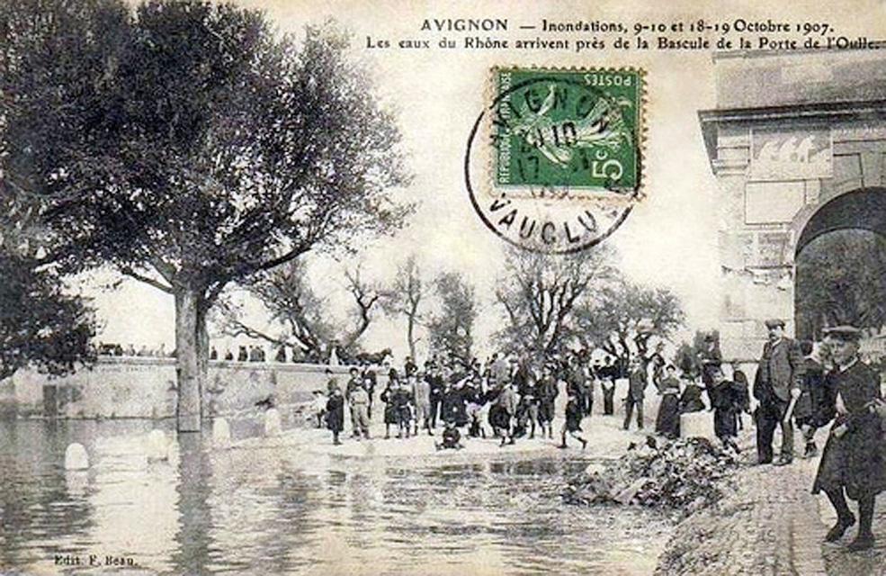 Porte de l'Oulle, inondations, octobre 1907