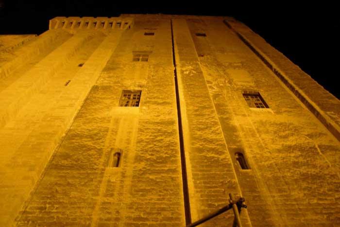 Le palais des Papes, vue verticale