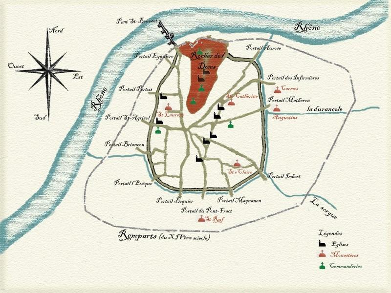 Plan ancien d'Avignon