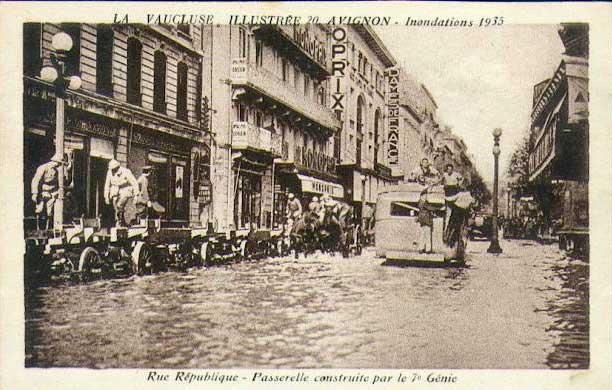 Rue de la République inondée en 1935