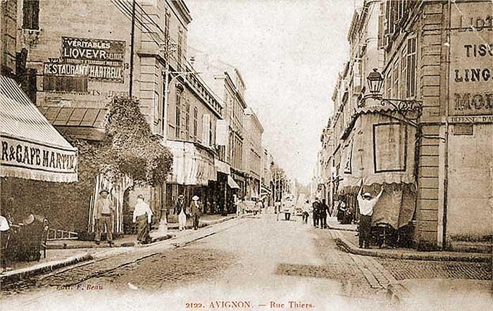 Avignon, rue Thiers, date inconnue