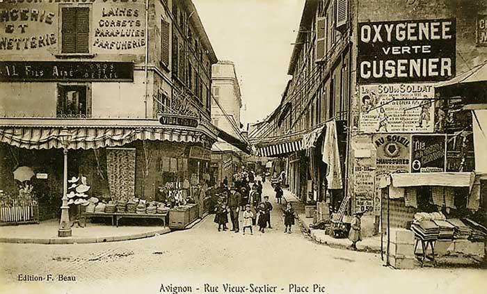 Avignon, rue du Vieux Sextier, date inconnue