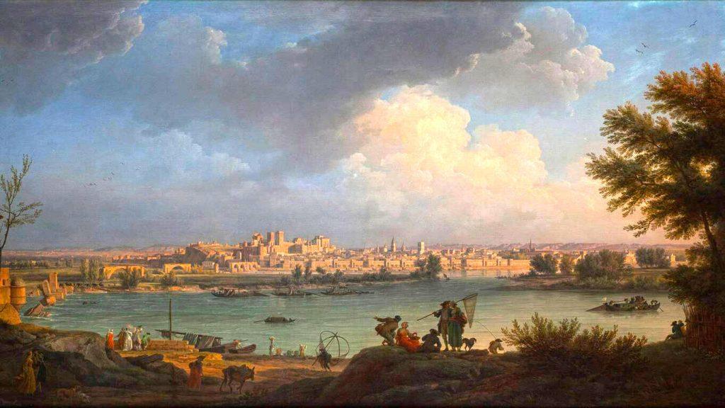 """""""Vue d'Avignon"""" de Claude-Joseph Vernet (1757)"""