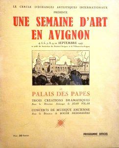 Une semaine d'art en Avignon 1947